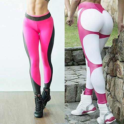 Lacci Il Casual In Fitness Pantaloni Eaylis Per Da Donna Cotone Con Ginnastica Caldo Rosa Elasticizzato qw4PRazPx