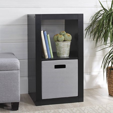 Pack 2 Cube - Better Homes and Gardens 2-Cube Organizer (Solid Black)