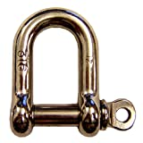 3/8'' Stainless Steel Screw Pin D Shackle