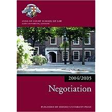 Bar Manual: Negotiation 2004/5