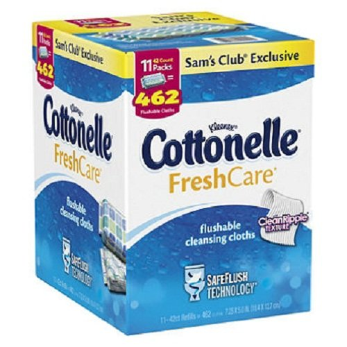 Kleenex Cottonelle FreshCare Flushable Cleansing Cloths (11 pk., 42 ct.)