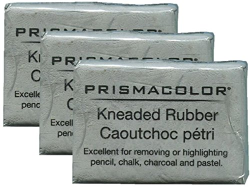 PRISMACOLOR Design Eraser, 1224 Kneaded Rubber Eraser, Grey (70531) (3 Pack)