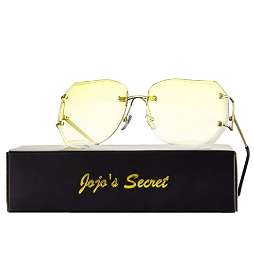a9d3eb029f60 JOJO S Secret Oversized Rimless Sunglasses