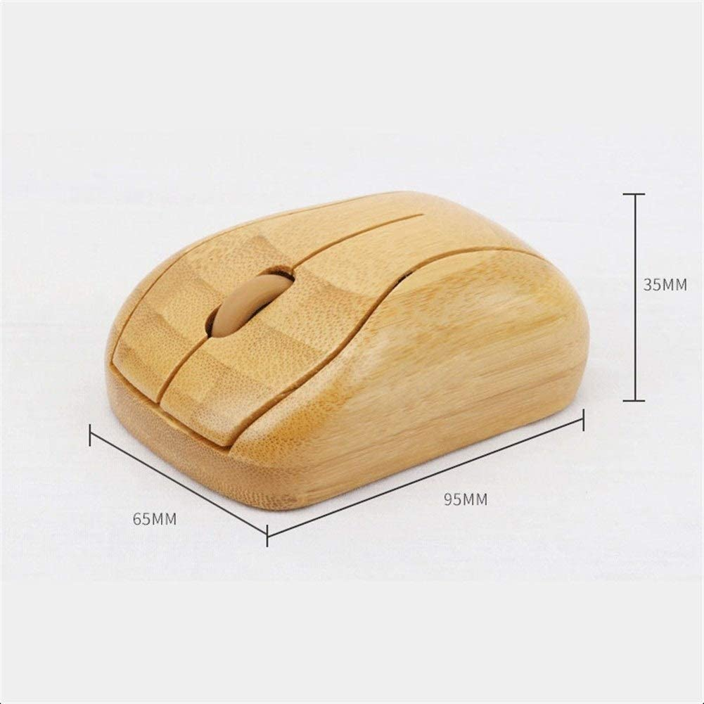 Computer Laptop Suitable for PC WPCBAA Environmentally Friendly Bamboo 2.4 GHZ Wireless Optical Mouse Rechargeable MacBook Laptop DPI 800//1200//1600