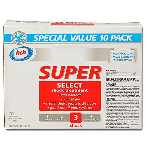 - HTH 51437 Super Select Shock Treatment for Swimming Pools (10-Pack)