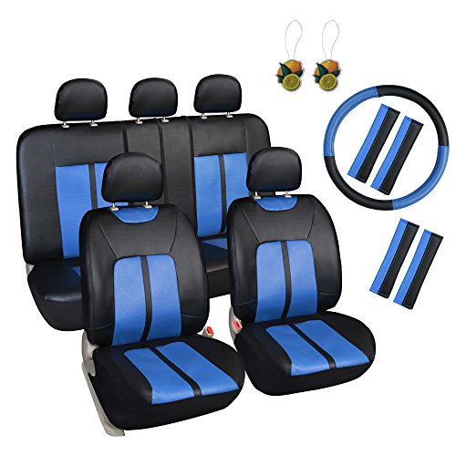 blue 17 piece car seat covers - 6