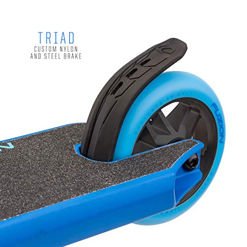 Fuzion Z250 Pro Scooter - All 4.37'' x 20.5'' Deck Dimensions - 110mm Aluminium Core Wheels - HIC Compression System -Chromoly T-Bars (2018 Blue) by Fuzion (Image #4)