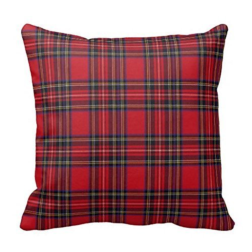 Royal Stewart Tartan (KarilShop Royal Stewart Tartan red Linen Throw Pillow Case Cushion Cover Home Sofa Decorative 18 X 18)