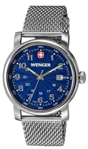 Wenger Urban Classic Blue Dial Stainless Steel Quartz Men's Watch 1041.107