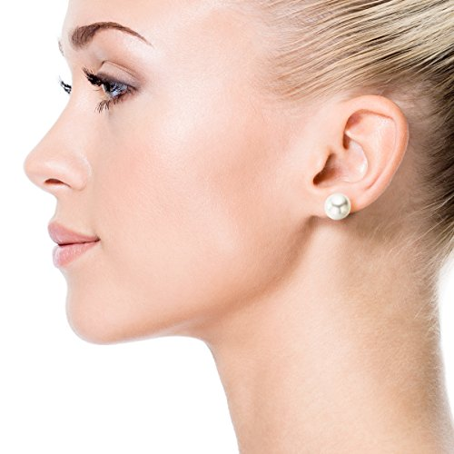 Special Deal - Perle de culture Akoya AA-Quality haute Lustre Boucles d'oreille avec 14 K Or jaune (8-8,5 mm)