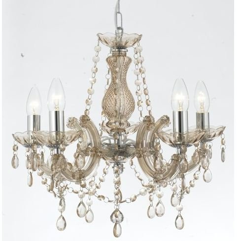Marie therese style crystal glass chandelier in champane colour by marie therese style crystal glass chandelier in champane colour by marco tielle amazon kitchen home aloadofball Images