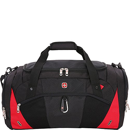 Swissgear Travel Gear 1900 22 Inch Overnight Duffel Bag – (Black/Red)
