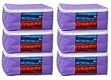 Kuber Industries™ Non woven Saree cover Bag Set of 6 Pcs /Wardrobe Organiser/Regular Clothes Bag PU-19158