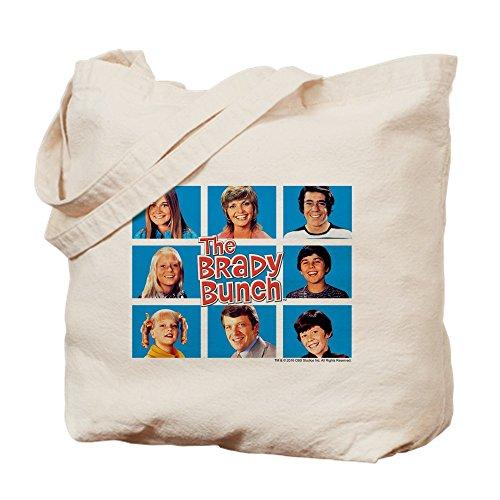 CafePress - The Brady Bunch Grid - Natural Canvas Tote Bag, Cloth Shopping Bag