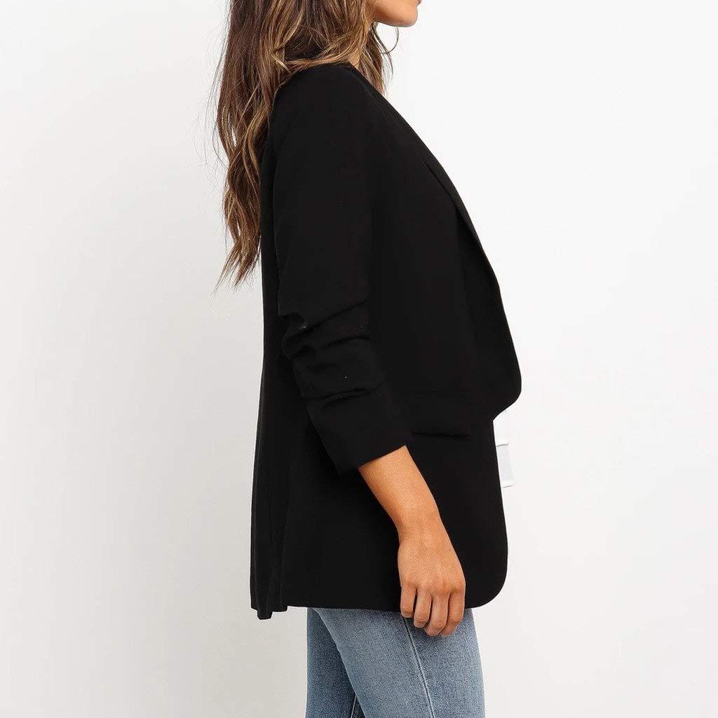 Women Loose Bussiness Blazer Top Long Sleeve Casual Jacket Ladies Office Wear Coat Blouse