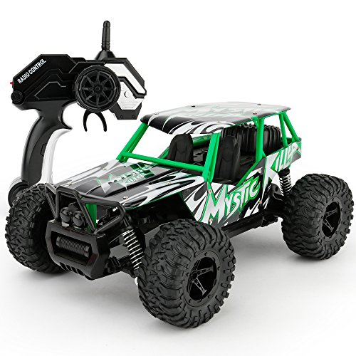 SONiKi Remote Control Car RC Cars 1/16 Scale Electric Remote Control Off Road Monster RC Truck 2.4GHz 2WD High Speed Radio Control Car-Best Toys for Kids and Adult.(Green)