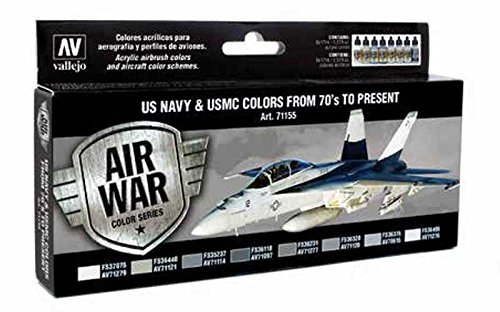 (Vallejo Acrylics Model Air Set - US Navy & USMC Colors from 70's to present by Vallejo )