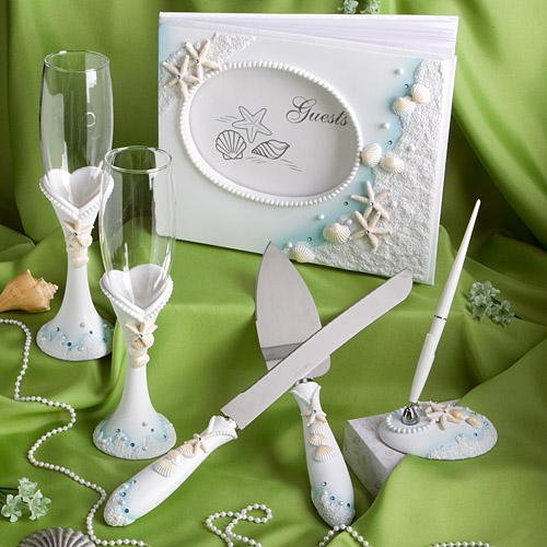 Finishing Touches Collection of beach themed wedding day accessories (Non (Wedding Favor Supplies)