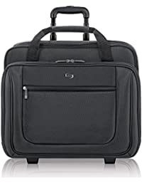 Bryant Rolling Laptop Bag, rolling laptop briefcase for women and men fits up to 17.3 inch laptops, Black
