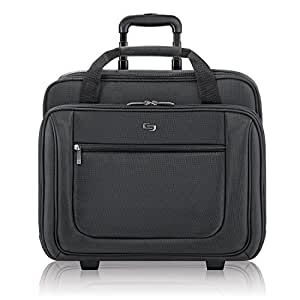Solo Bryant Rolling Laptop Bag, rolling laptop briefcase for women and men fits up to 17.3 inch laptops, Black