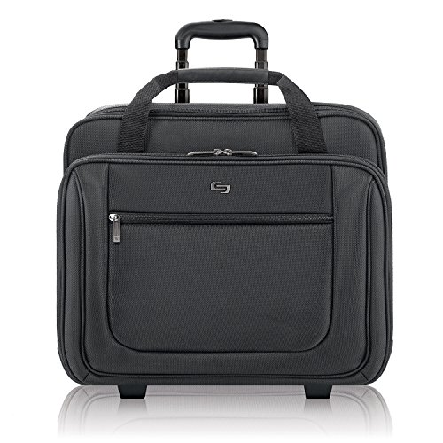 Solo New York Bryant Rolling Laptop Bag. Rolling Briefcase for Women and Men. Fits up to 17.3 inch laptop - Black -