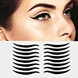 Dolovemk | 40 Pairs Temporary Eye Sticker Transfer Eyeshadow Eyeliner Stickers Eye Make-up Stickers for Brown Eyes, Easy to Apply, 4.3cm X0.4cm