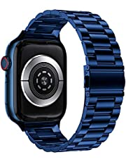 Stainless Steel Strap Watch Band Series 6 Metal Apple iWatch 44mm - Blue