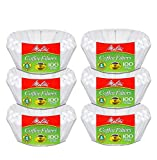 Melitta Junior Basket Coffee Filters White 100 Count (6 pack)