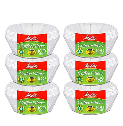 - Melitta Junior Basket Coffee Filters White 100 Count (6 pack)
