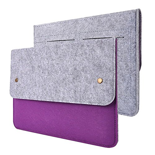 Happy Hours - 15 Inch Ultra Thin Eco Felt Bag Cover for Apple MacBook Pro / Premium Slim Netbook, Laptop, Notebook, Computer Protective Sleeve Case(Purple)