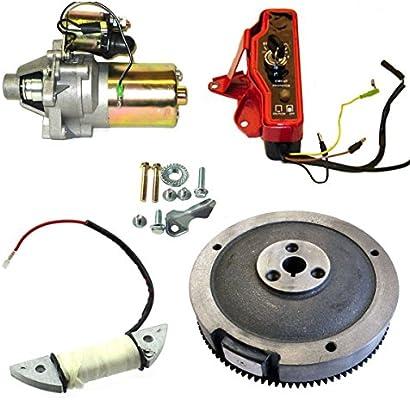powersportspro electric start kit starter motor ignition switch honda gx160  gx200 5 5hp 6 5hp