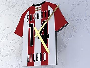 MyShirt123 Athletic Bilbao FC Club de fútbol - Camiseta de fútbol Reloj - Cualquier Nombre y Cualquier número - Elegir.: Amazon.es: Deportes y aire libre