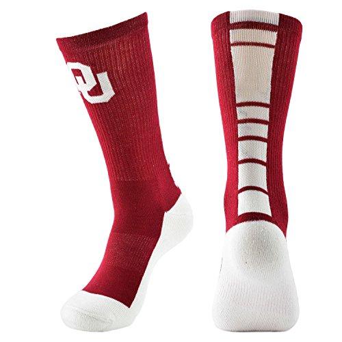 Ncaa Oklahoma Sooners Womens Champ Performance Crew Socks Cardinal White Womens Medium 9 11