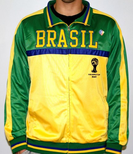 - Men's 2014 FIFA World Cup Soccer Hat Trick Brasil Yoke Track Jacket (Adult MD)