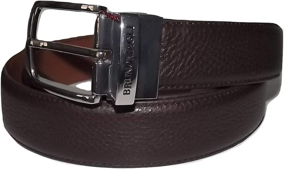 Bruno Magli Mens Soft Grain Leather Reversible Belt Size 38//39 Brown//Cognac