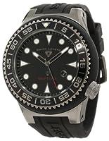 Swiss Legend Men's 21818D-GM-01-NB Neptune Black Dial Black Silicone Watch by Swiss Legend