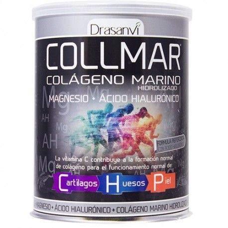 Collmar, colágeno marino hidrolizado con magnesio y ácido hialurónico para cartilagos, huesos y piel 300g: Amazon.es: Salud y cuidado personal