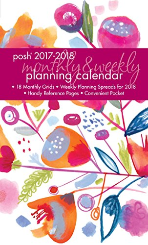 Posh: Washy Floral 2017-2018 Monthly/Weekly Planning Calendar