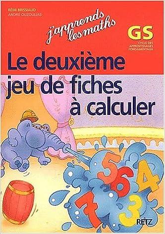 Jeu de fiches à calculer Maternelle GS
