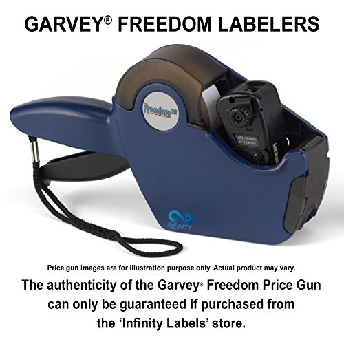 Freedom Price Guns [5 Labeler Value Pack]: 2112-8 Layout #1801 [ONE LINE] by Infinity Labels