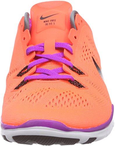 Nike Frauen Free 5.0 Tr Fit 5 Prt Trainingsschuh Frauen US Hypr Orng / Blk / Cl Gr / Vvd Prpl