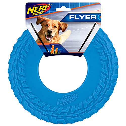 Nerf Dog 10in Tire Flyer: Blue, Dog Toy