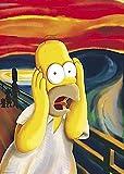 (24x36) Simpsons (Homer - The Scream) Cartoon Poster