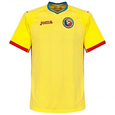 d0ee4795c75 Joma 2016-2017 Romania Home Football Soccer T-Shirt (Kids)  Amazon.co.uk   Sports   Outdoors