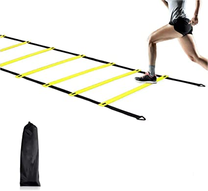 6M 12-rung Agility Speed Training Soccer Ladder Fitness Footwork Football Straps