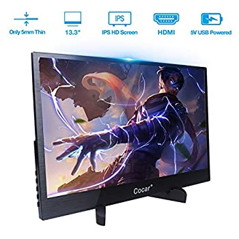 Image of 13.3 inch Portable Gaming Monitor IPS Screen Super Thin Metal Casing HD 1920x1080P 5mm Display for PC Laptop Movie PS4 XBox DVD Dual HDMI 5V USB TYPE-C Powered LED Backlight Built-in Speaker Audio Out Monitors