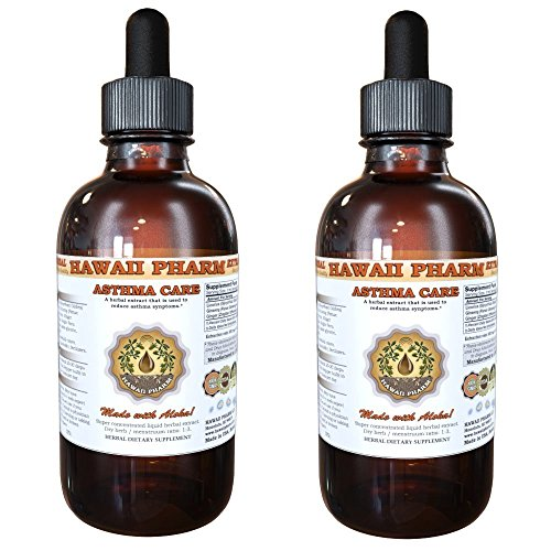 Asthma Care Liquid Extract, Licorice (Glycyrrhiza Glabra) Root, Red Ginseng (Panax Ginseng) Root, Ginger (Zingiber Officinale) Root Tincture Supplement 2x2 oz