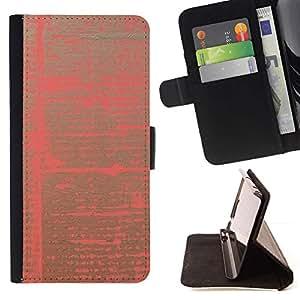 Momo Phone Case / Flip Funda de Cuero Case Cover - Patrón de papel rosado abstracto vibrantes colores - LG Nexus 5 D820 D821