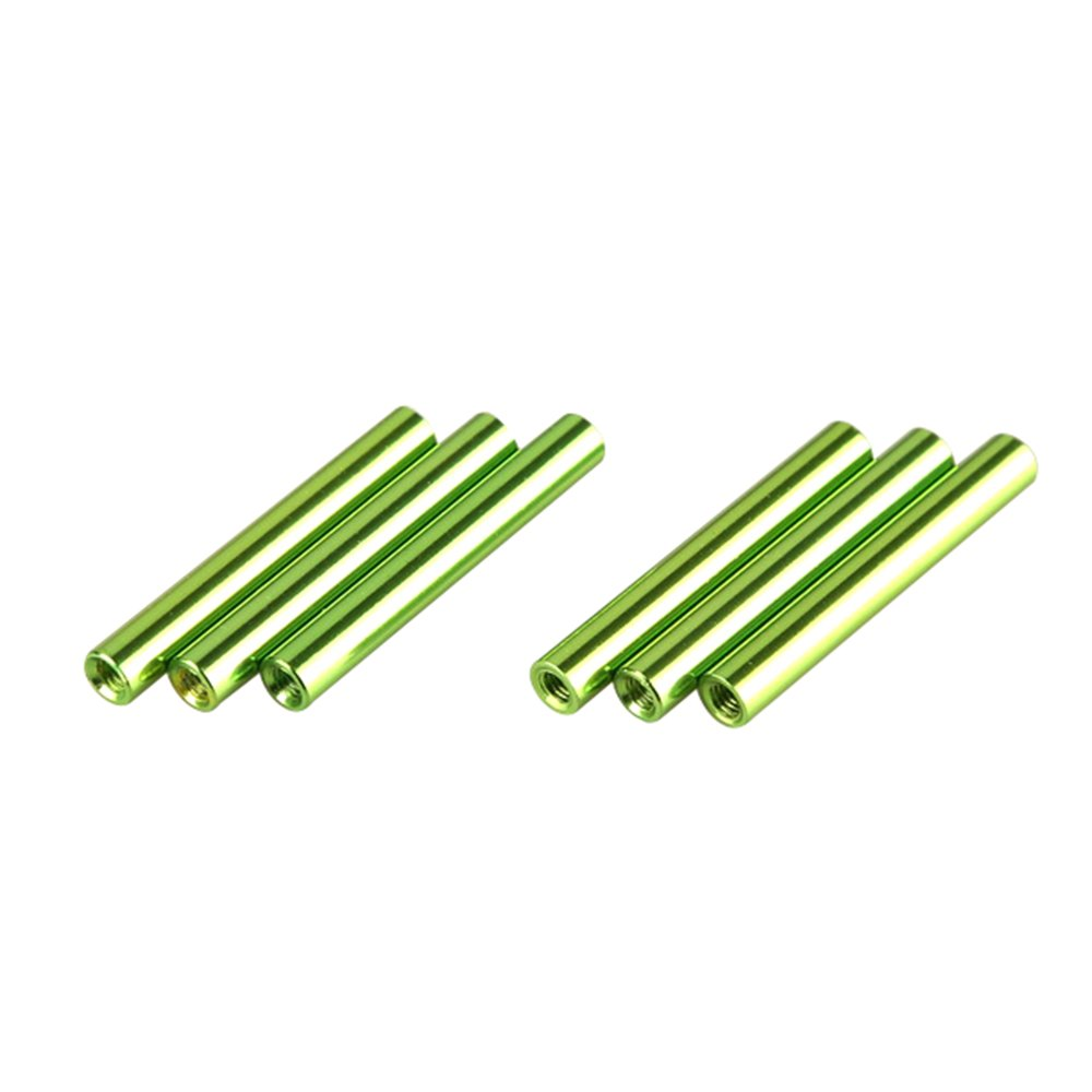 ZSJ New Upgrading M3X38mm Colored Round Aluminum Standoff Spacer For Carbon FPV Frame 50pcs/Pack (Green)