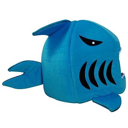 JEELINBORE Cojín extraíble Suave Casa Cama de Tiburón para Gatos Perros Pequeños Cueva para Mascotas (L: 50 * 52CM, Tiburón # Zafiro)